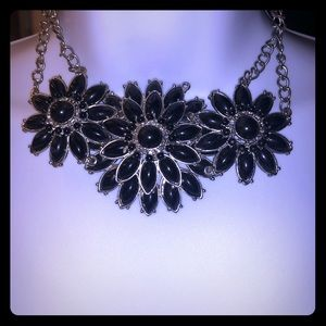 3 necklaces black and silver